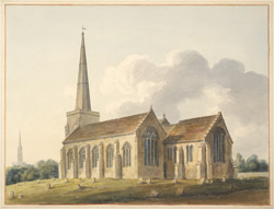 South-east view of St Martin's church, Salisbury